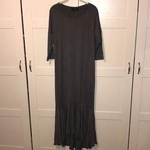 NWT size large gray 3/4 sleeve dress